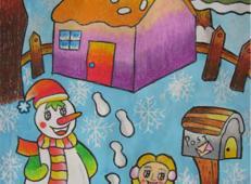 关于冬天和雪人的儿童画图片大全 (37).jpg