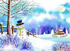 关于冬天和雪人的儿童画图片大全 (56).jpg