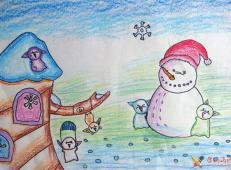 关于冬天和雪人的儿童画图片大全 (14).jpg