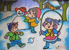 关于冬天和雪人的儿童画图片大全 (48).jpg