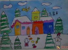 关于冬天和雪人的儿童画图片大全 (20).jpg