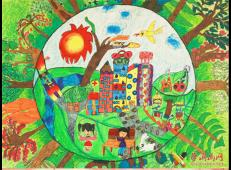 69幅《绿色家园》主题儿童画画图片大全