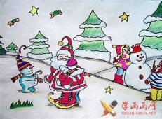 关于圣诞节和圣诞老人的儿童画画图片大全 (29).jpg