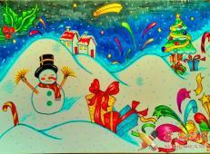 关于圣诞节和圣诞老人的儿童画画图片大全 (20).jpg