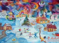 关于圣诞节和圣诞老人的儿童画画图片大全 (36).jpg