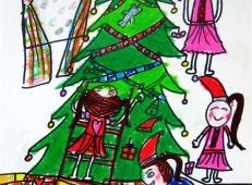 关于圣诞节和圣诞老人的儿童画画图片大全 (17).jpg