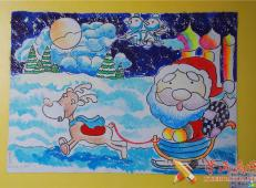 关于圣诞节和圣诞老人的儿童画画图片大全 (21).jpg