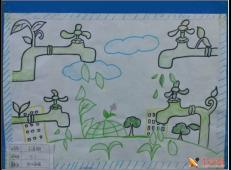 关于节约用水的儿童画画图片大全 (1).jpg