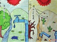 关于节约用水的儿童画画图片大全 (40).jpg