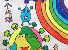 关于节约用水的儿童画画大全