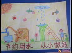 关于节约用水的儿童画画图片大全 (45).jpg