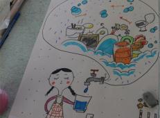 关于节约用水的儿童画画图片大全 (49).jpg