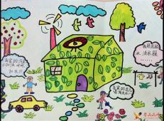 关于节约用水的儿童画画图片大全 (26).jpg