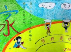 关于节约用水的儿童画画图片大全 (20).jpg