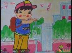关于节约用水的儿童画画图片大全 (39).jpg