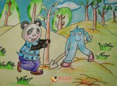 植树节儿童画图片 (61).jpg