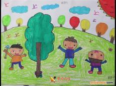 植树节儿童画图片 (9).jpg