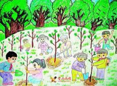 植树节儿童画图片 (3).jpg