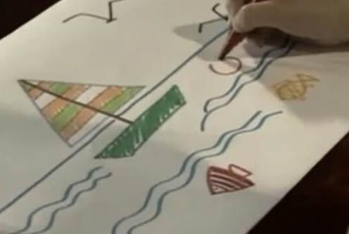 小帆船儿童画
