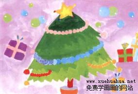 学画圣诞树儿童画步骤