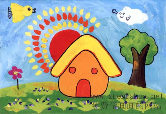 儿童学画画教程-可爱小房子