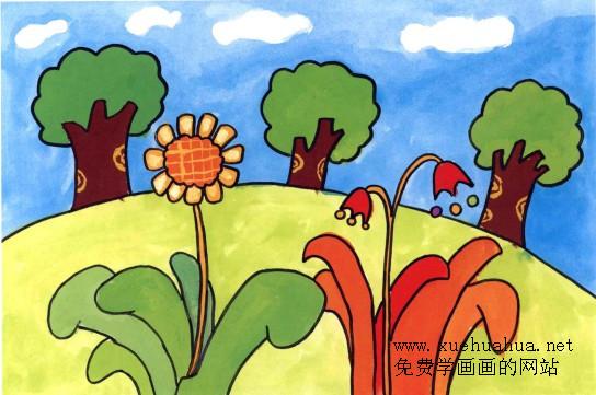 童学画画教程 春天在哪里