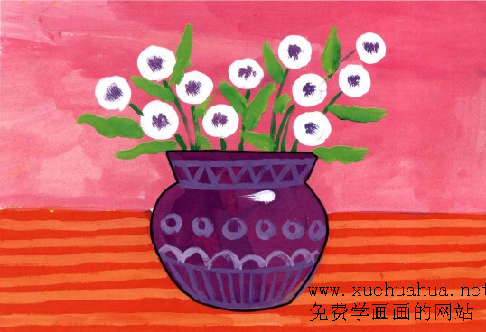 幼儿绘画美丽的花边
