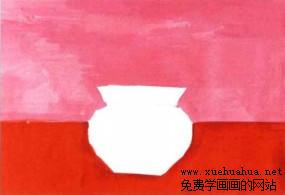 学画画小花盆儿童水粉画步骤1