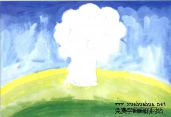 儿童学画画教程-苹果树