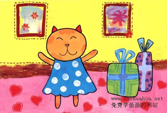 儿童学画画教程-小猫姐姐画法