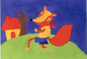 小狐狸儿童画步骤2图