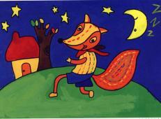 儿童学画画画教程_狡猾的小狐狸水粉画