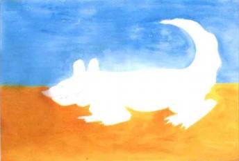 鳄鱼水粉儿童画教程