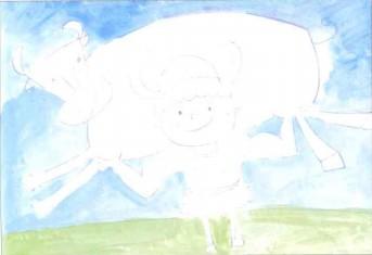 儿童学画画教程:放牛娃步骤1