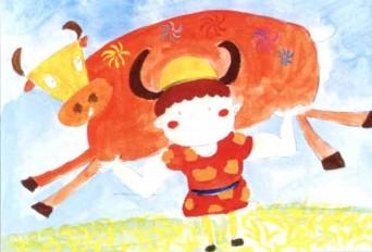 儿童学画画教程:放牛娃步骤3