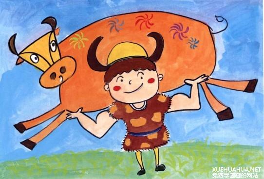 儿童学画画教程:放牛娃步骤4