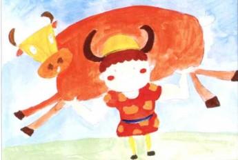 儿童学画画教程:放牛娃步骤2