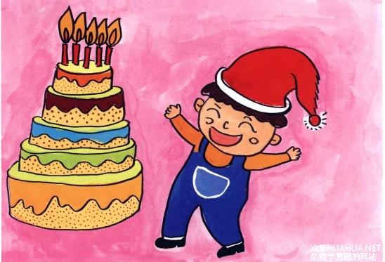 幼儿学画画 我的生日蛋糕(4)