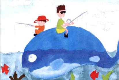 儿童学画画教程《钓鱼》