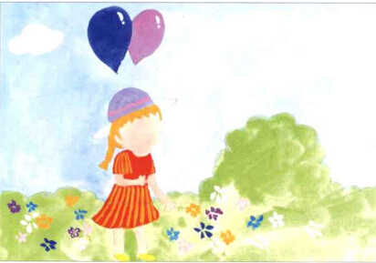 儿童学画画教程 《拿气球的小女孩》(3)