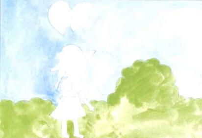 儿童学画画教程 《拿气球的小女孩》(1)