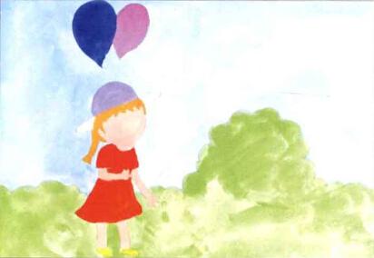 儿童学画画教程 《拿气球的小女孩》(2)