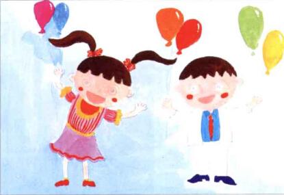 儿童学画画教程_快乐儿童节