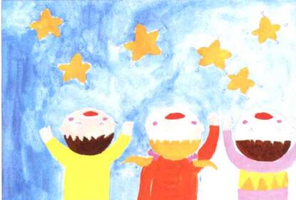 儿童学画画教程_数星星的小孩