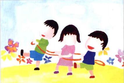 儿童学画画教程_一起去跳绳