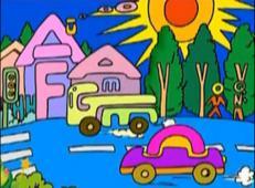 儿童学画画第95课_《神奇的字母儿童画》