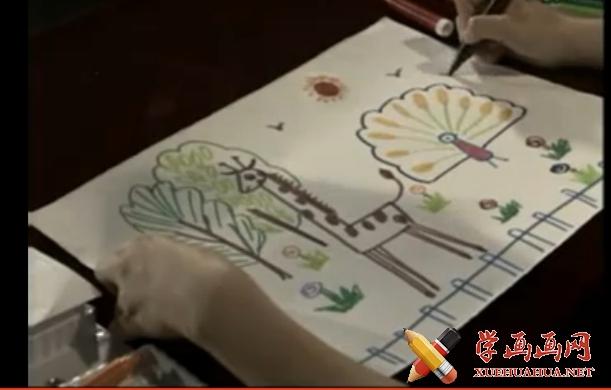 儿童学画画入门大全:动物园儿童画视频教程(1)