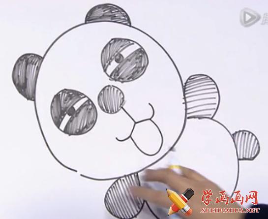 儿童画视频:教你怎么画熊猫(1)