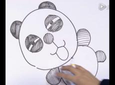 儿童画视频:教你怎么画熊猫