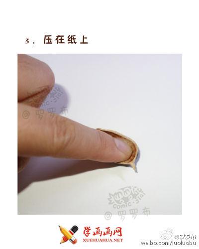学画画教程:用花生壳画一幅水墨画(3)